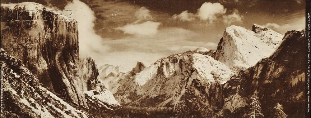 Ansel Adams (American, 1902-1984)      Winter Morning, Yosemite Valley, California