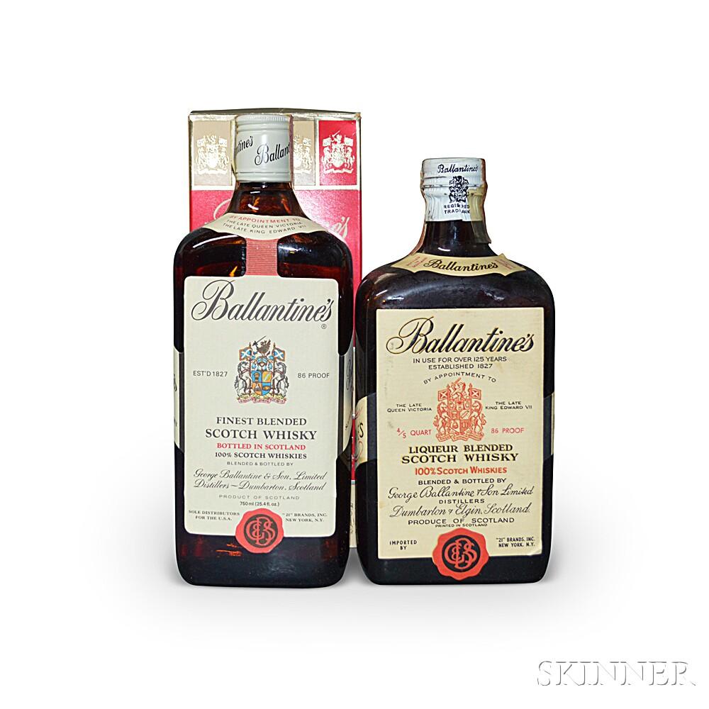 Mixed Ballantines, 2 4/5 quart bottles