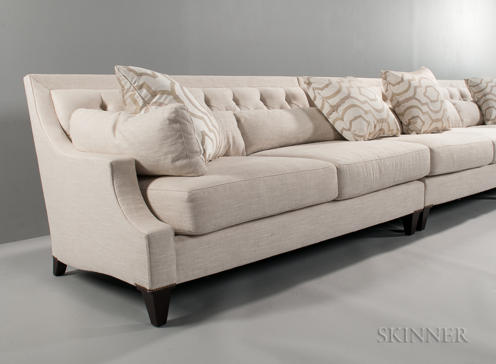 large thomas pheasant for baker corner sectional sofa. Black Bedroom Furniture Sets. Home Design Ideas