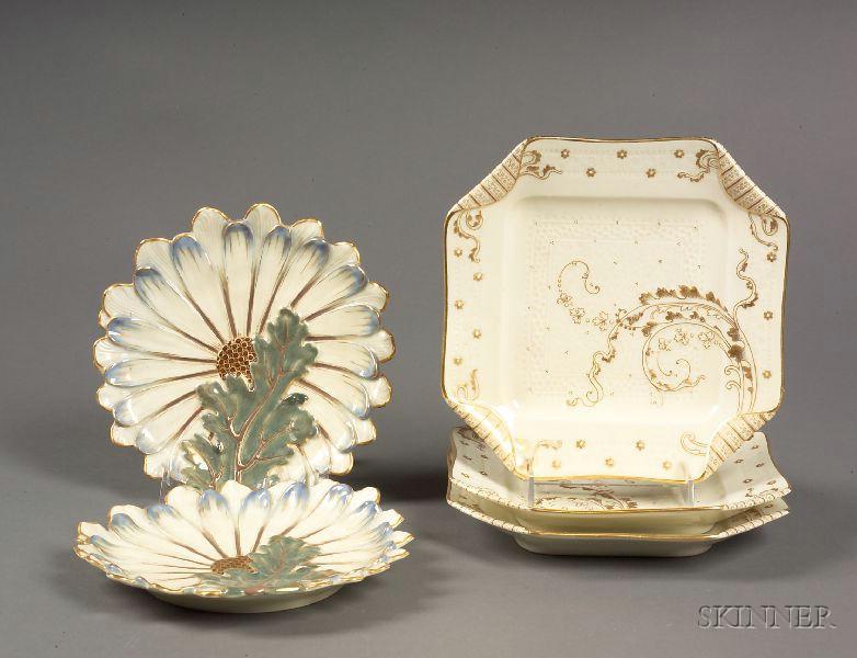 Five Haviland Limoges Porcelain Dishes