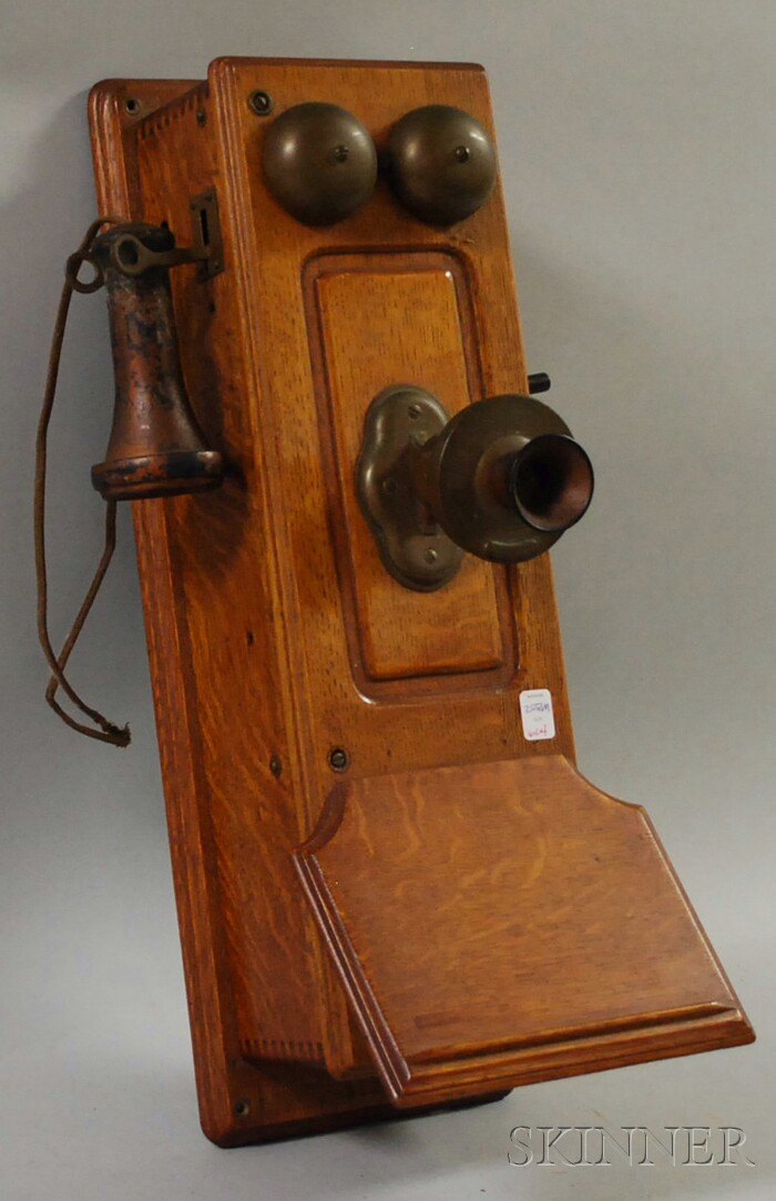 Western Electric Co. Oak Wall Telephone