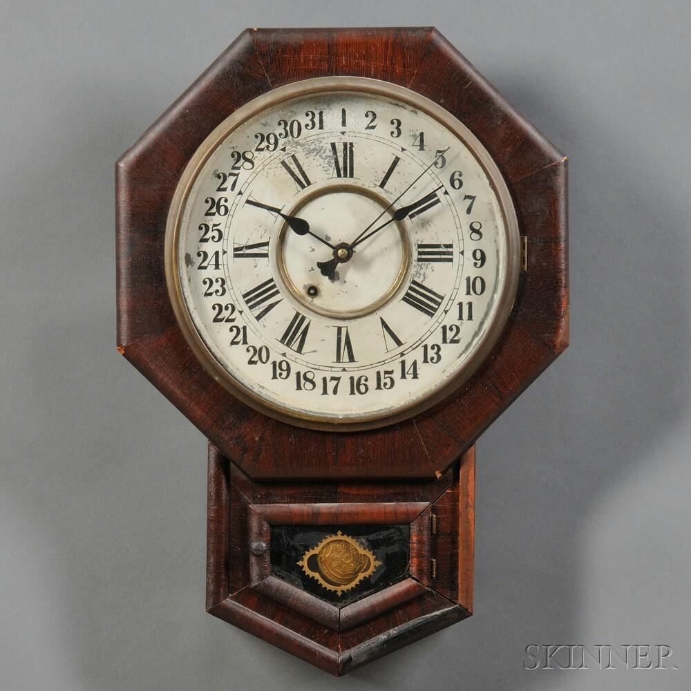 New Haven Drop Octagon Calendar Clock