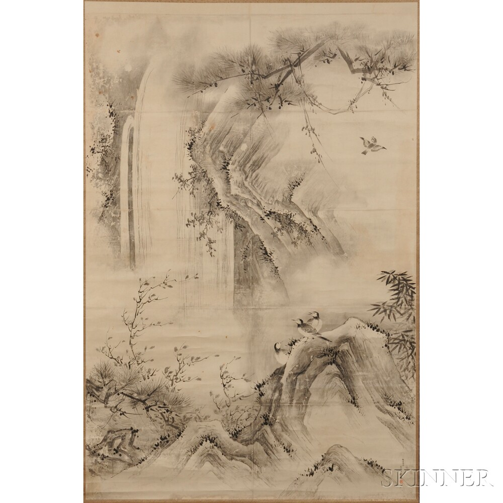 Three Large Hanging Scroll Print Copies