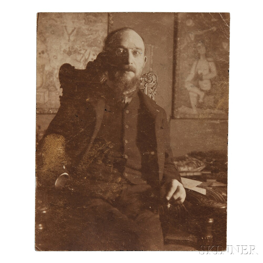Satie, Erik (1866-1925) Signed Photograph.
