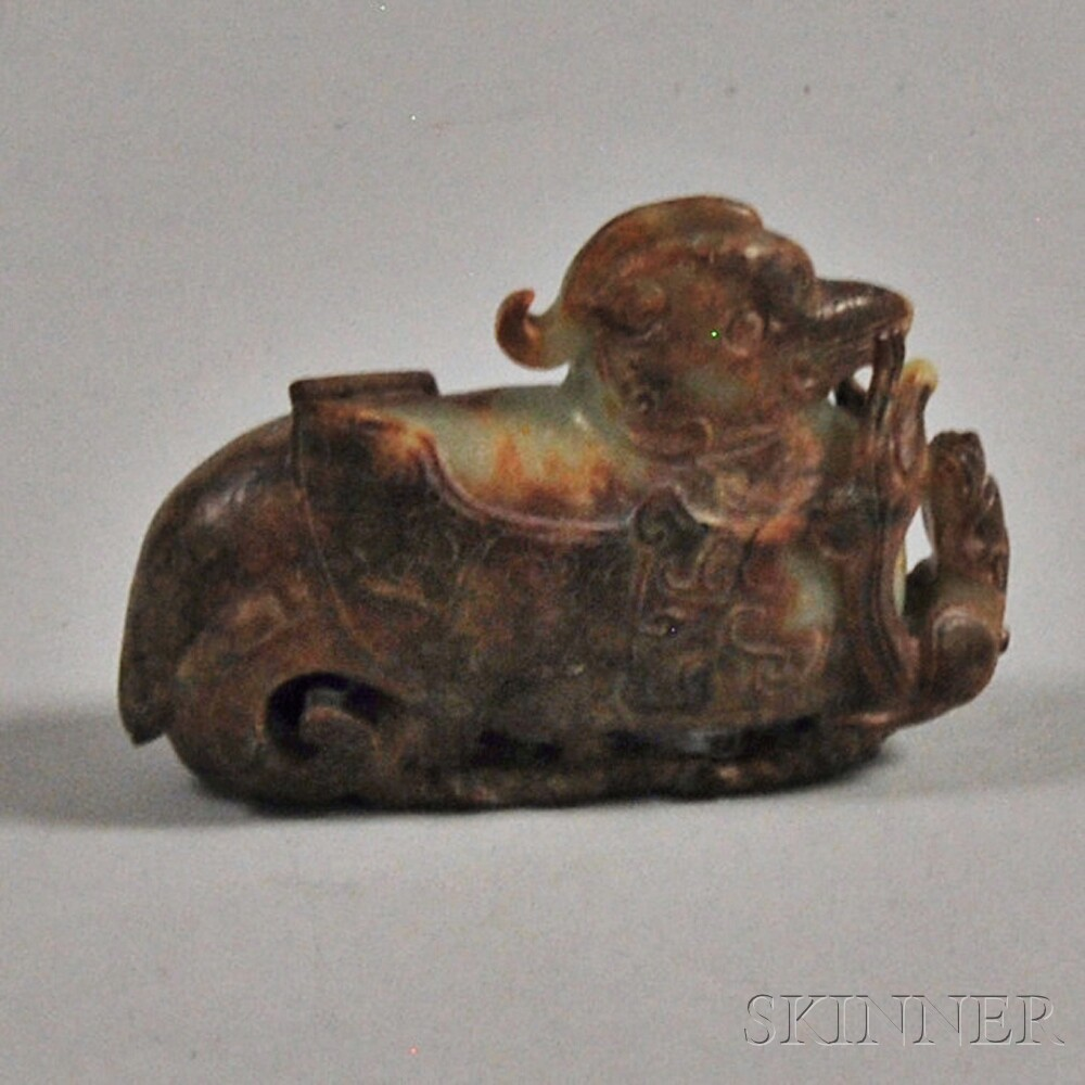 Nephrite Jade Carving of a Mythical Bird