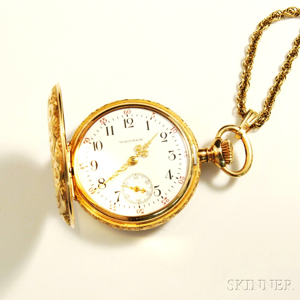Lady's Waltham 14kt Gold Pocket Watch