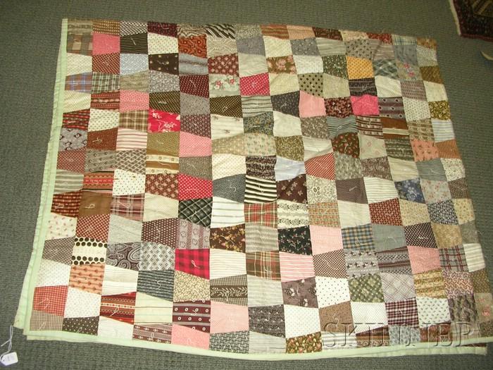 Pieced Cotton Wedding Cake Pattern Friendship Quilt and a ...