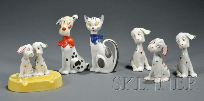 Six Art Deco Animal Figures