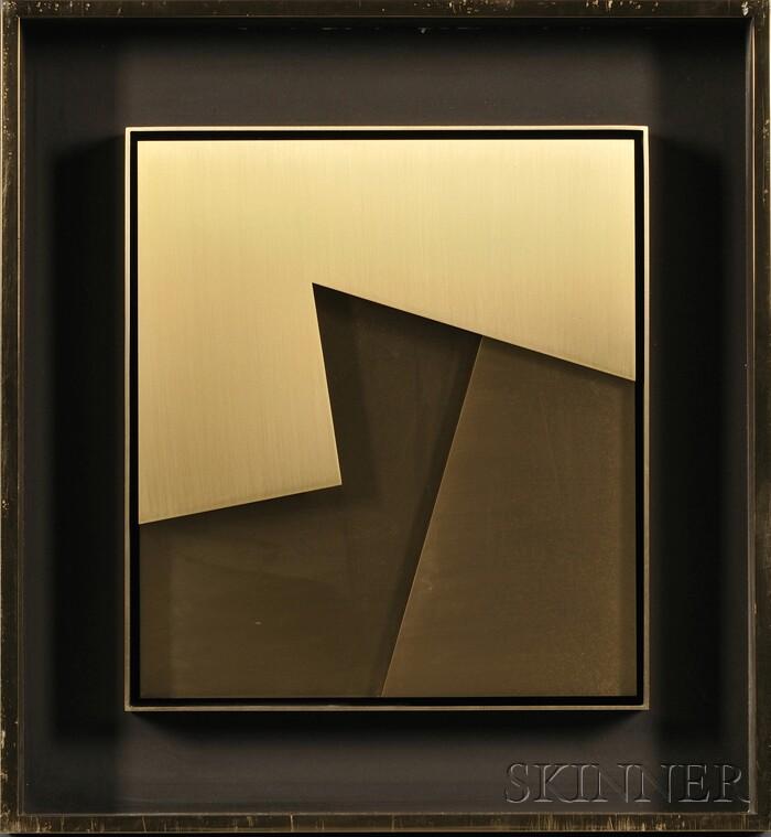 Stephen Philip Edlich  (American, 1944-1989)      Untitled Bronze Relief, Three Layers