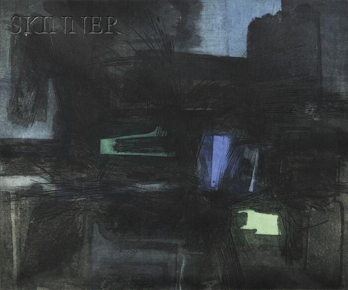 Gabor F. Peterdi (Hungarian/American, 1915-2001)      Dark Landscape