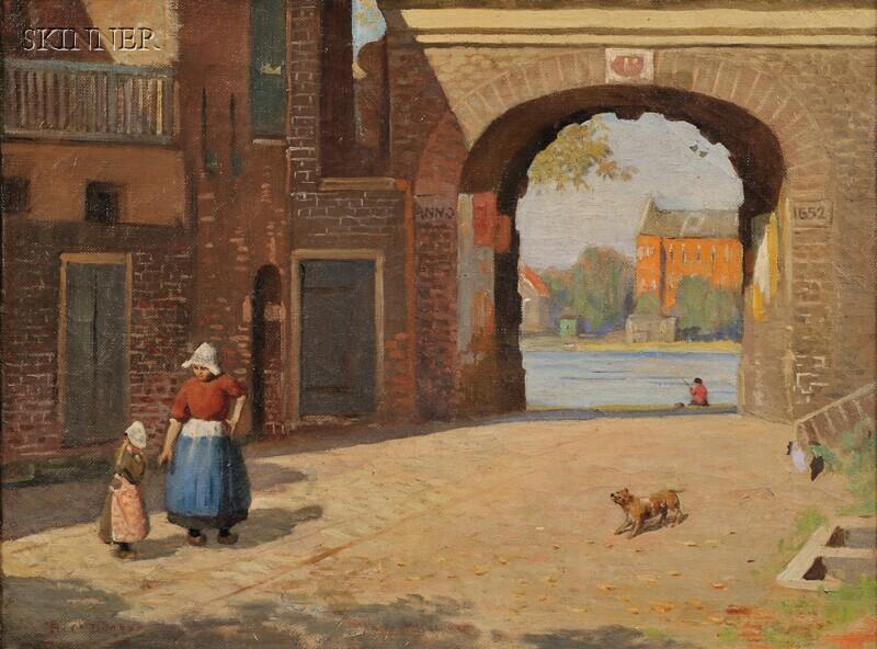 Harold C. Dunbar (American, 1882-1953)      Dutch Town View