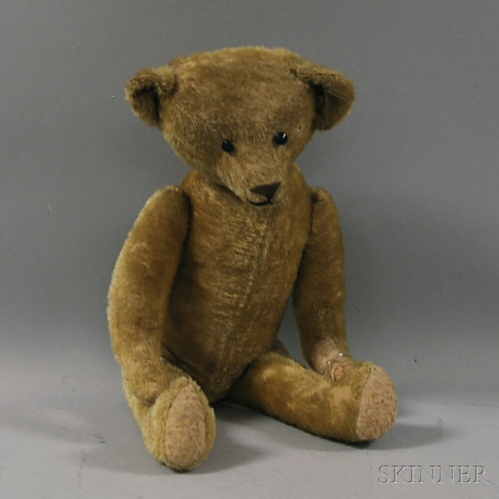 Jointed Golden Mohair Teddy Bear