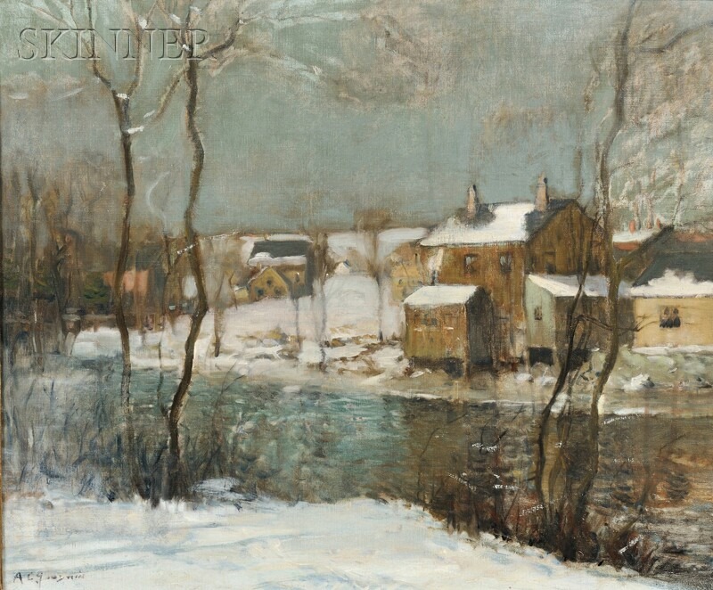 Arthur Clifton Goodwin (American, 1864-1929)      The Neponset River in Winter.
