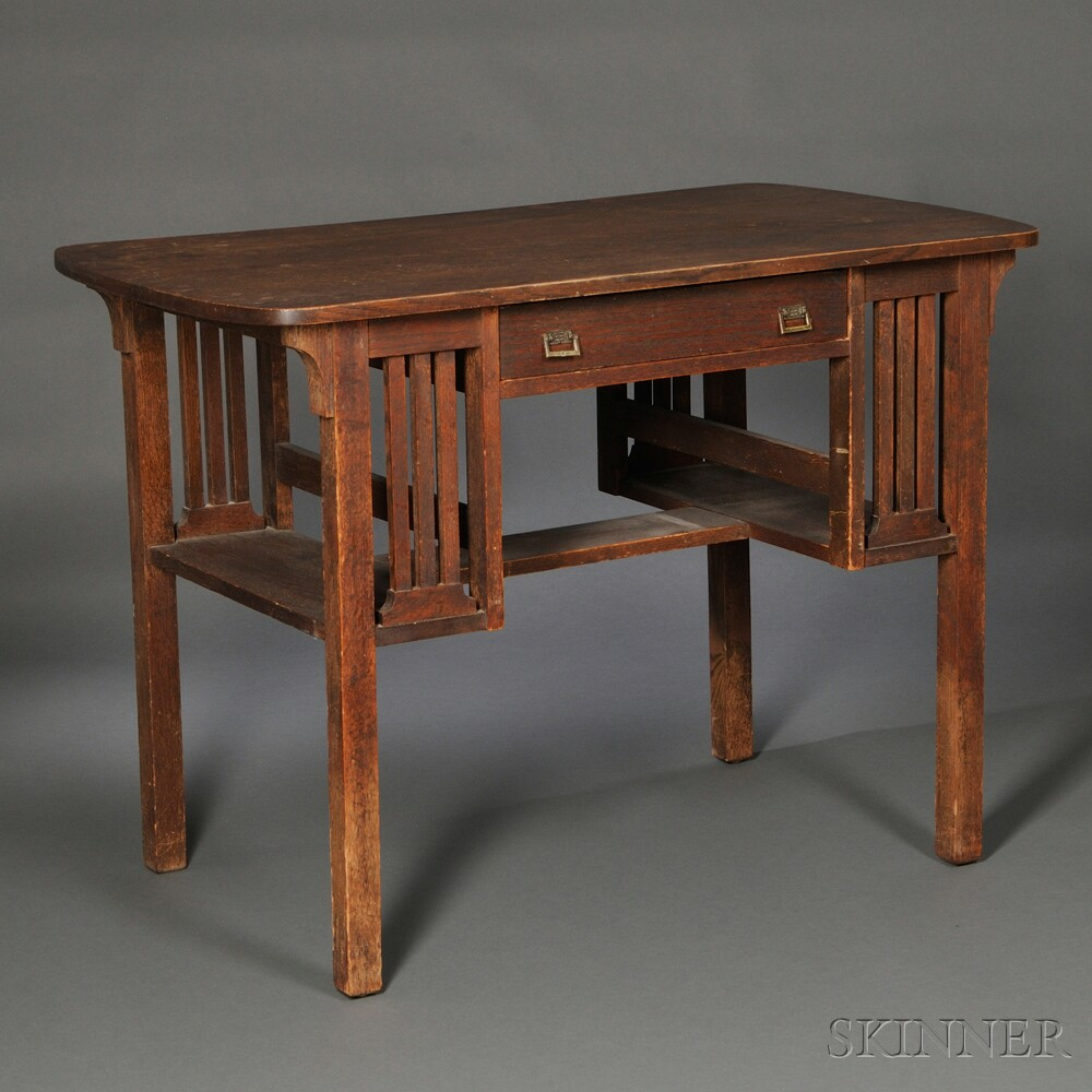 Oak Mission-style Desk