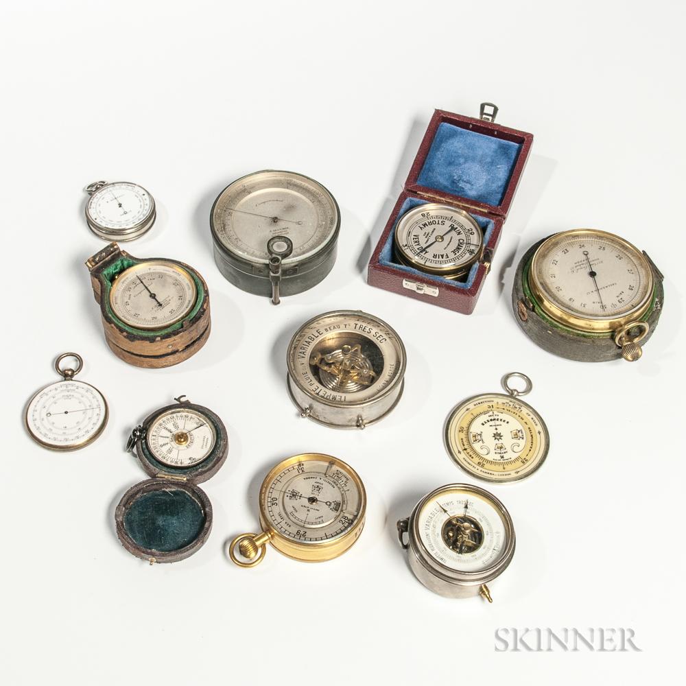 Eleven Pocket Barometers