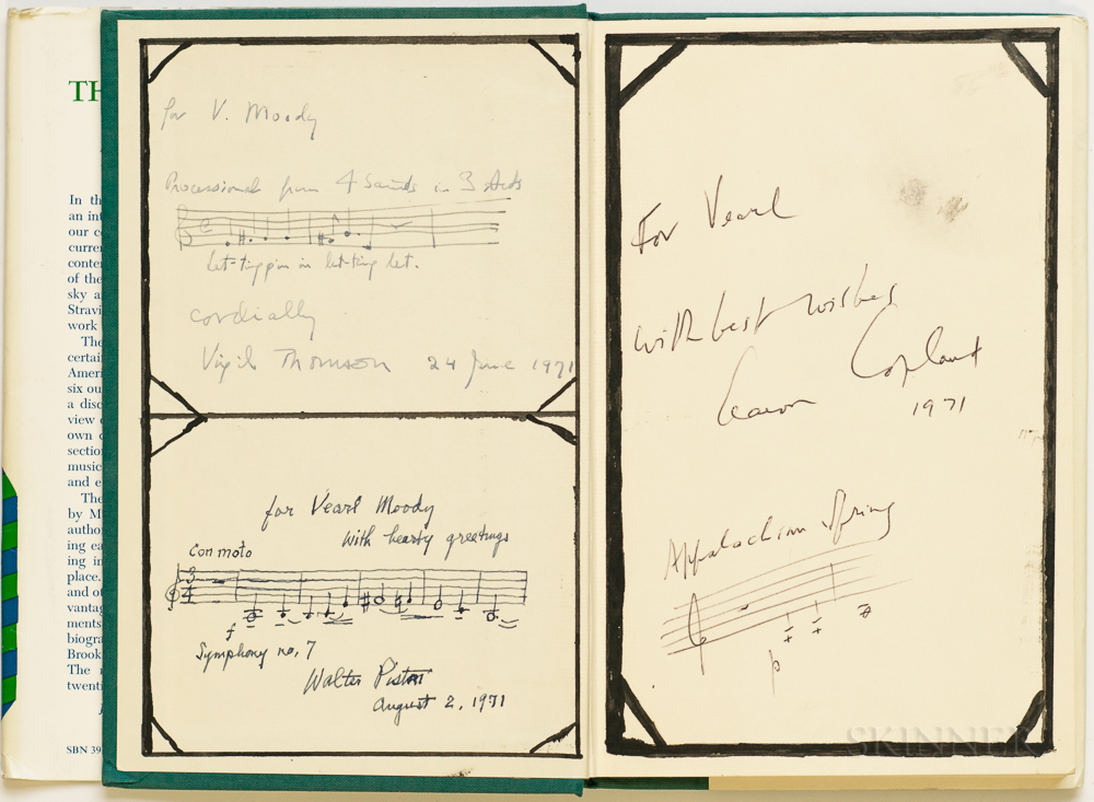 Aaron Copland (1900-1990) The New Music  , Signed by Copland, Walter Piston (1894-1976) and Virgil Thomson (1896-1989).