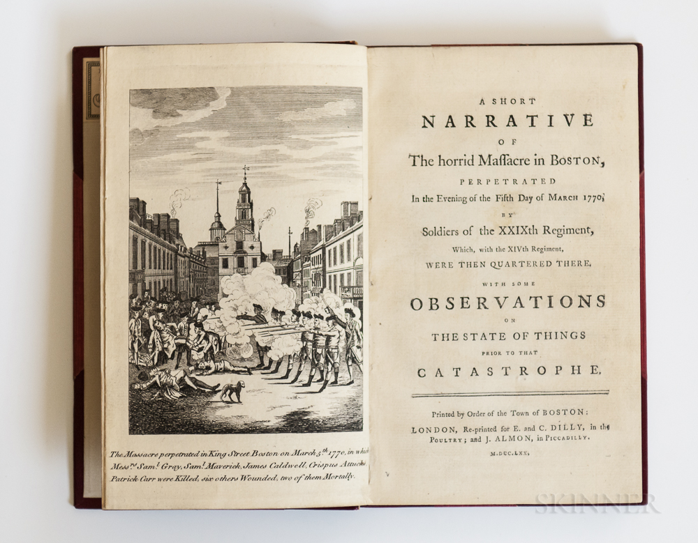 A Short Narrative of the Horrid Massacre in Boston, Perpetrated in the Evening of the Fifth Day of March 1770 by Soldiers of the XXIXth