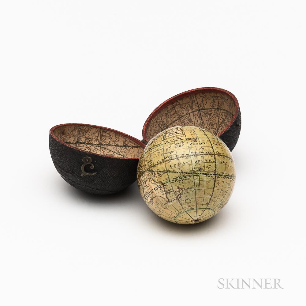 Dudley Adams 3-inch Cased Terrestrial Pocket Globe