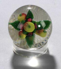 Glass Fruit Paperweight