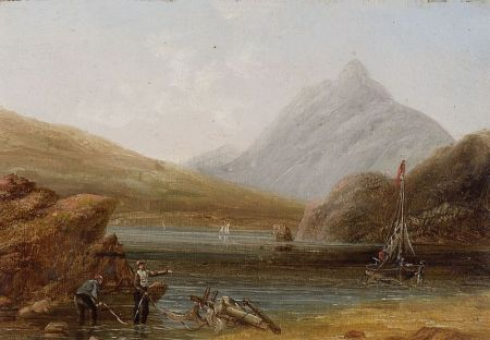 Manner of William Henry Hall (British, 1812-1880)    Clearing the Shore