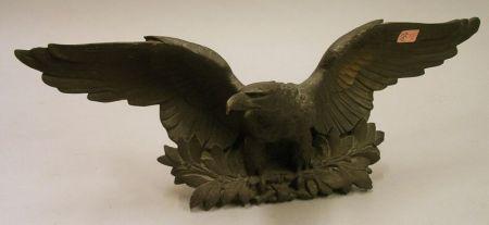 Patinated Cast Bronze Eagle Ornament