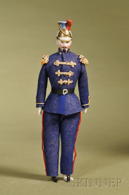 Dollhouse Doll Soldier with Molded Helmet