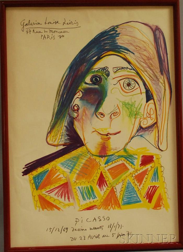Pablo Picasso (Spanish, 1881-1973)      Galerie Louise Leiris