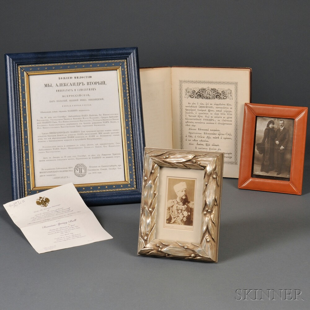 Four Items Relating to the Romanov Family