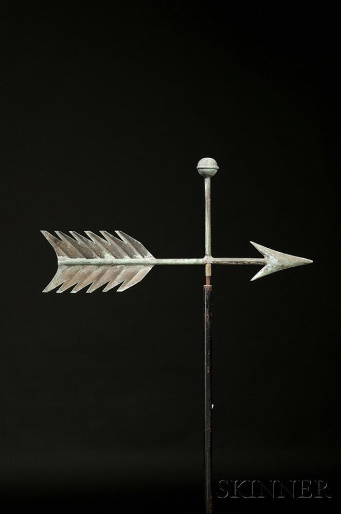 Molded Copper Arrow Weathervane