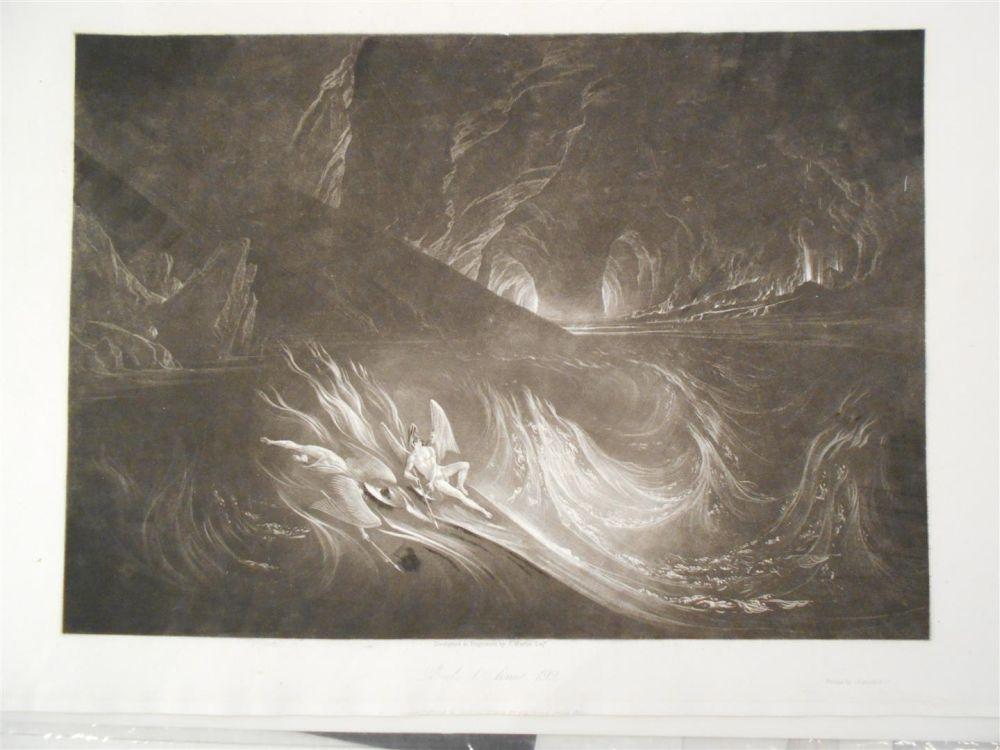 John Martin (British, 1789-1854)      Five Plates Illustrations from John Milton's Paradise Lost