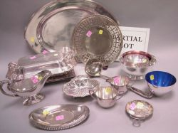 Twenty-three Pieces of Assorted Silver Plated Hollowware and Table Items