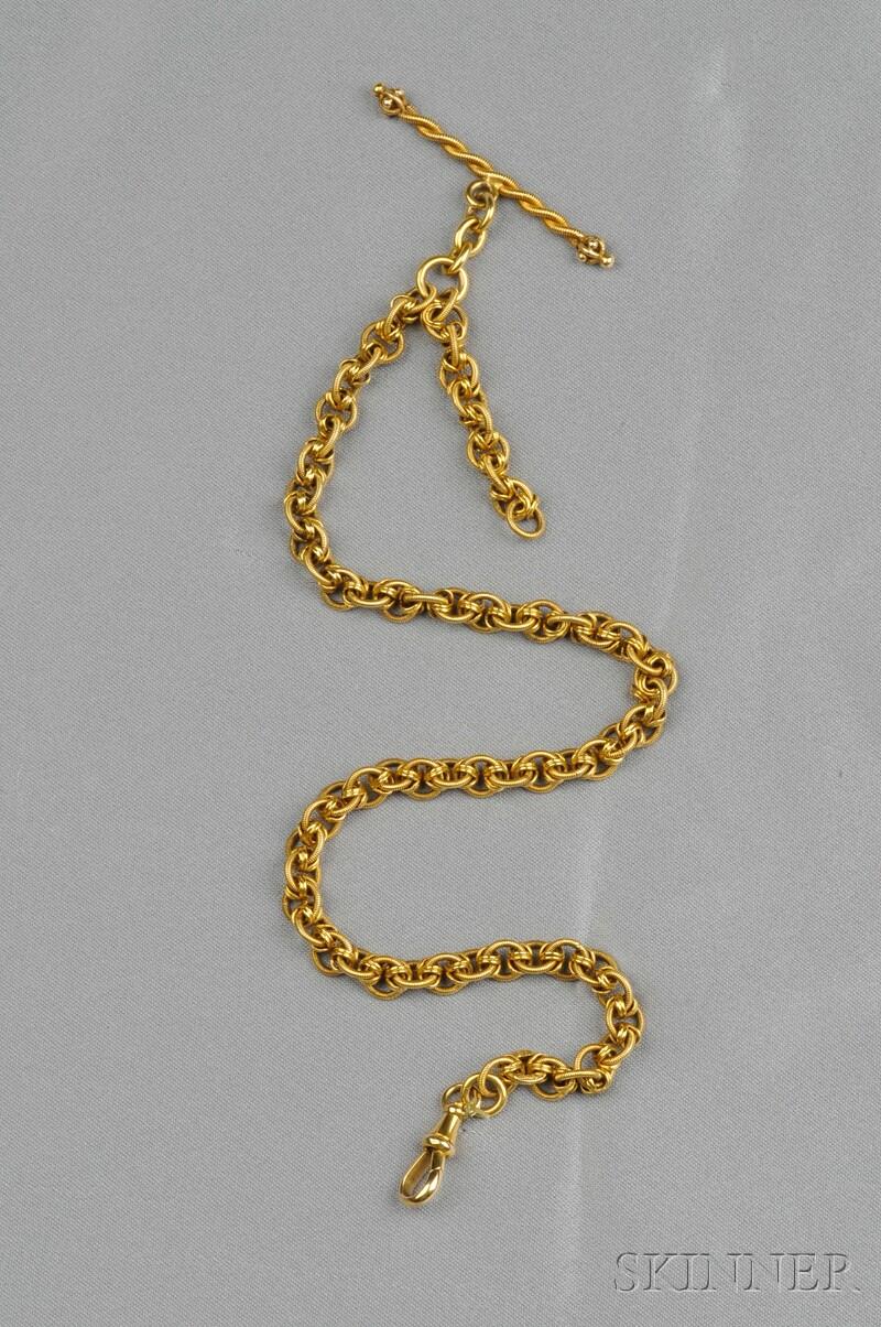 Antique 18kt Gold Watch Chain