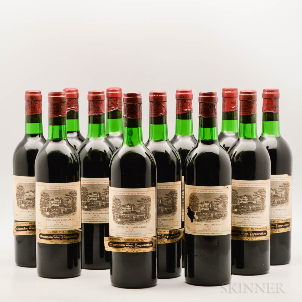 Chateau Lafite Rothschild 1976, 12 bottles