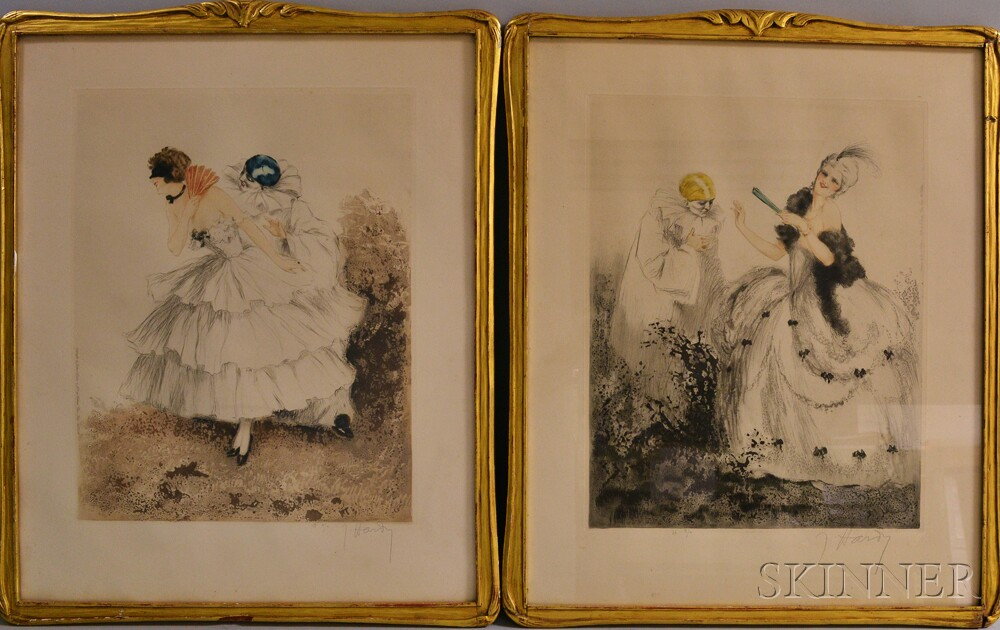 Pair of Framed Aquatints