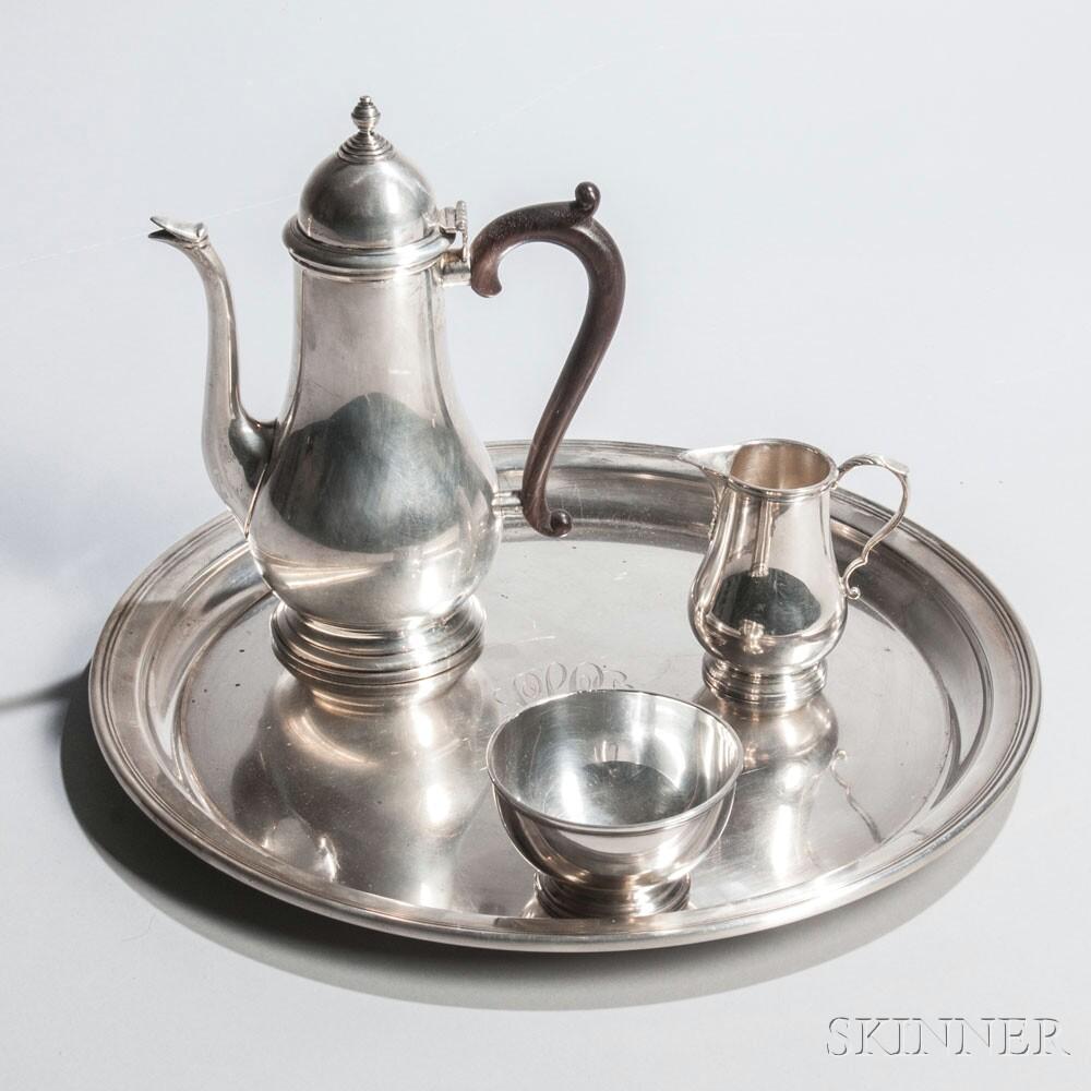 Four-piece Gorham Sterling Silver Coffee Service