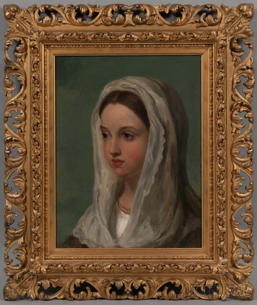 Italian School, 19th Century      Young Woman with a White Scarf