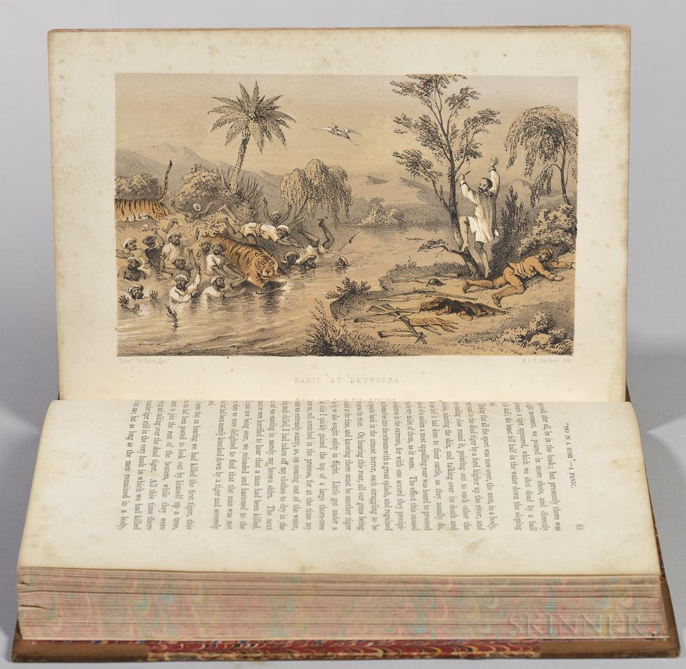 Rice, William (fl. circa 1850) Tiger-Shooting in India.