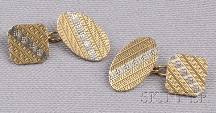18kt Gold Cuff Links