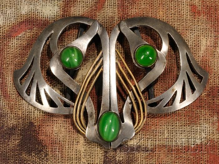 German Art Nouveau Belt Buckle