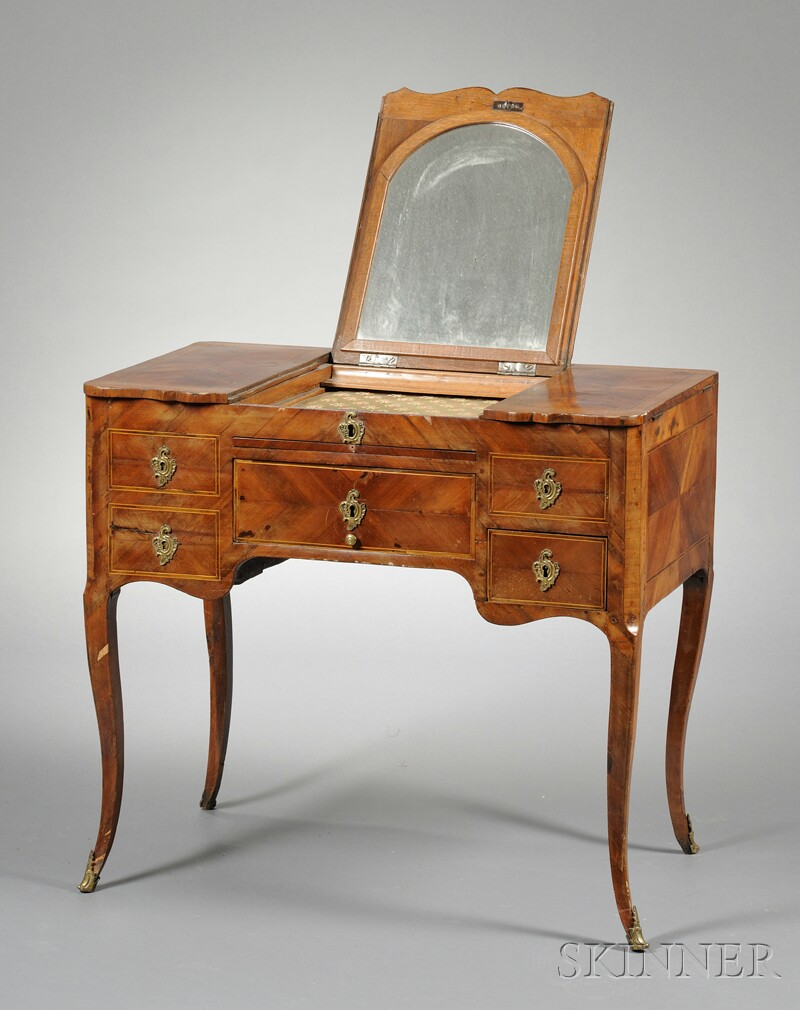 Marquetry-inlaid Dressing Table