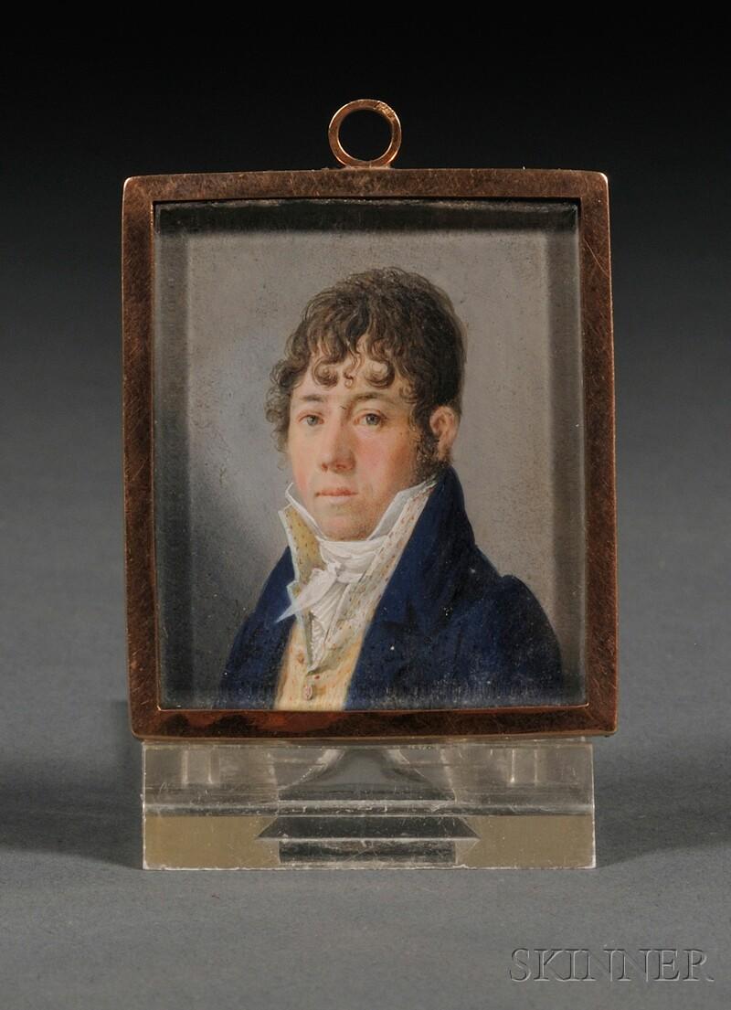 English Portrait Miniature of a Gentleman