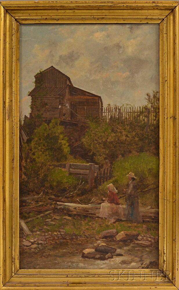 John J. Hammer (American, 1842-1906)      Resting by a Brook