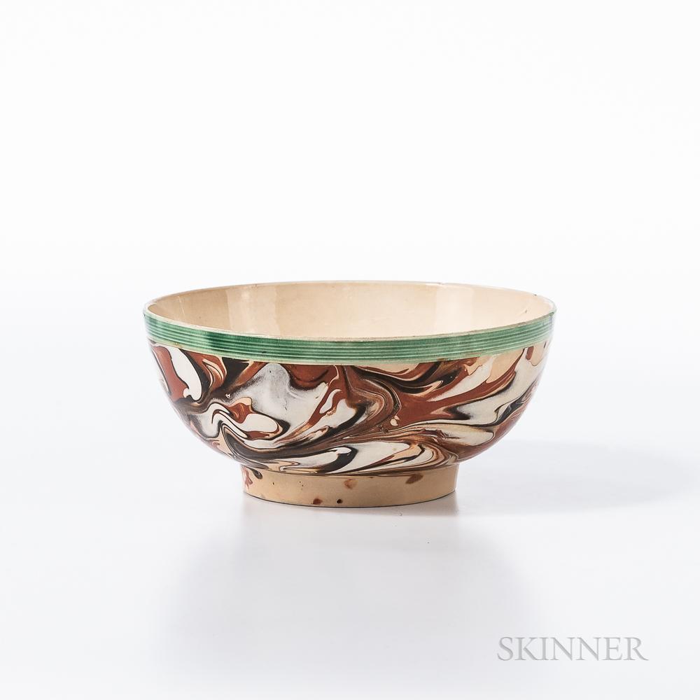 Marbled Slip-decorated Creamware Bowl
