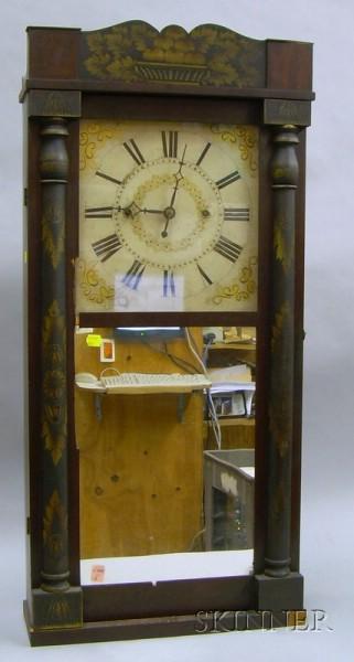 Stenciled Column and Splat Shelf Clock