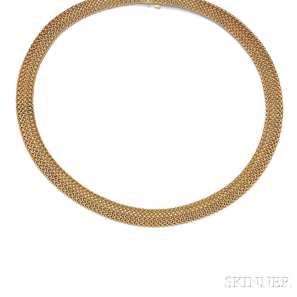 "18kt Gold ""Somerset"" Necklace, Tiffany & Co."
