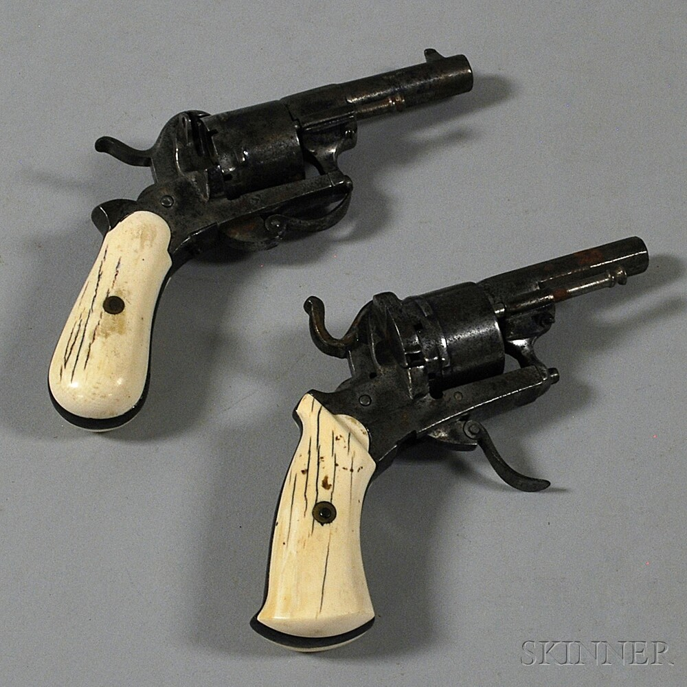 Two European Ivory-handled Pistols