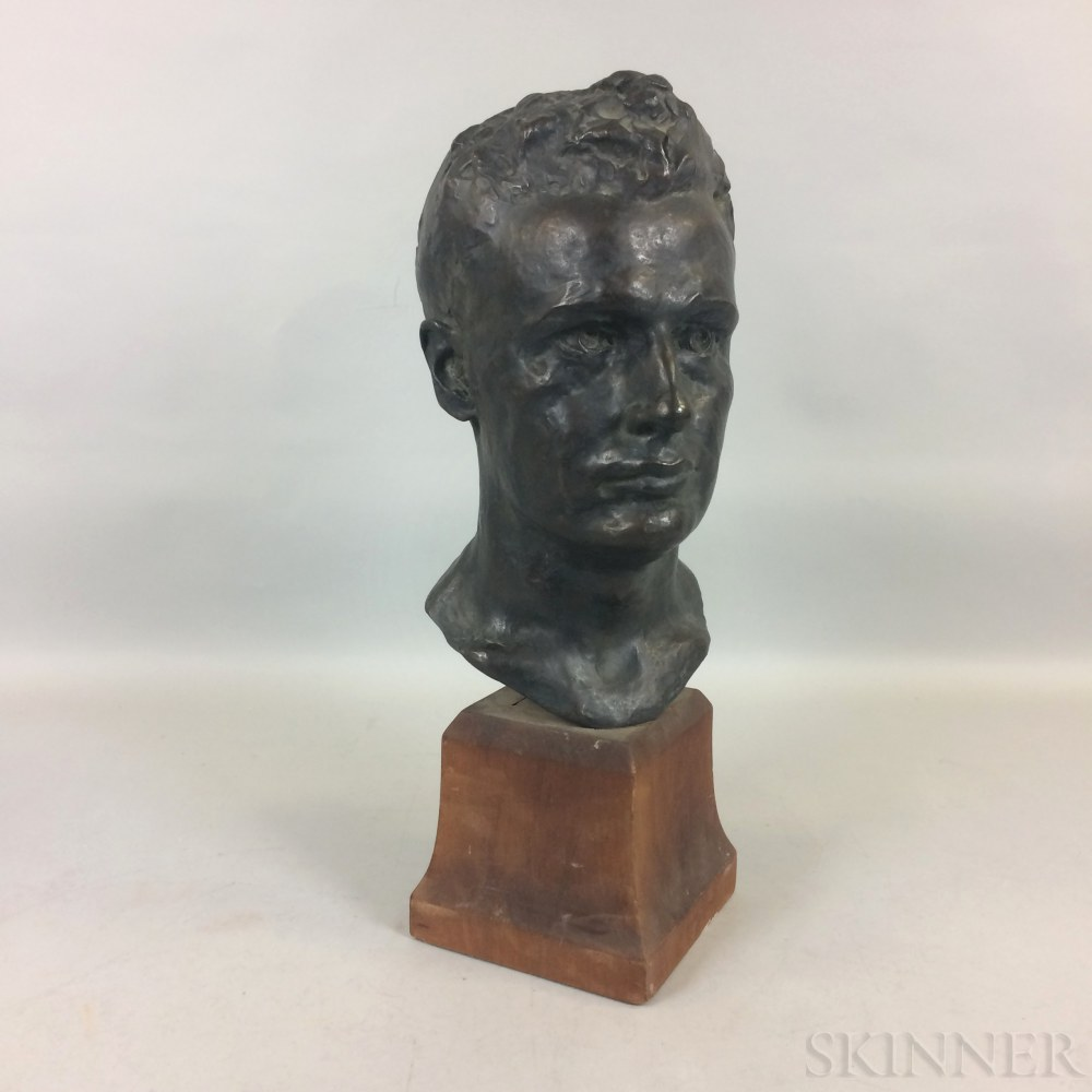 John Paramino (Massachusetts, 1888-1956) Bronze Bust of a Man