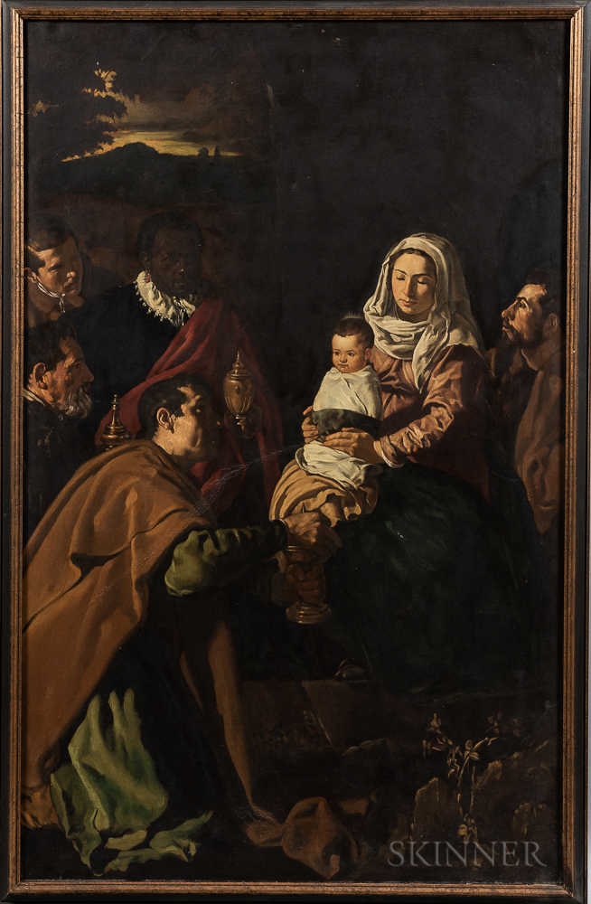 Continental School, 19th/20th Century      Copy of Velázquez's The Adoration of the Magi