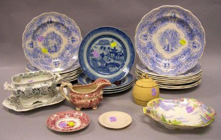 Twenty-seven Pieces of Assorted English Decorated Ceramics