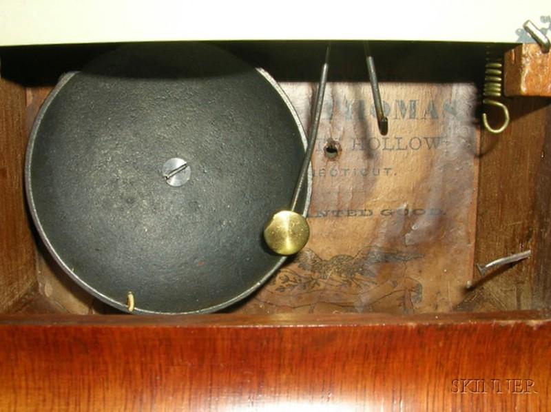 Mahogany Illuminated Alarm Cottage Clock by Seth Thomas